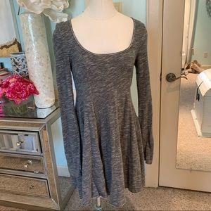 Free People Beach Grey Sweatshirt Dress, Sz XS